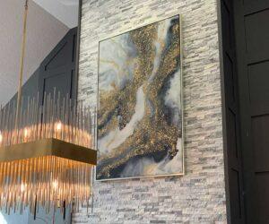 LFI Design - Chandelier Fireplace